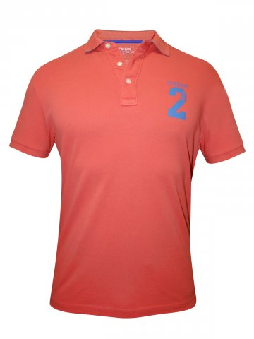 FCUK Coral Polo T shirt at cilory