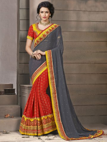 https://static1.cilory.com/114662-thickbox_default/jiyara-orange-grey-party-wear-saree-with-skirt-blouse.jpg