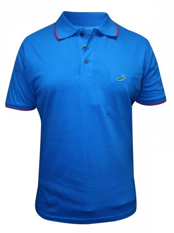 Crocodile Imperial Blue Polo T Shirt at cilory