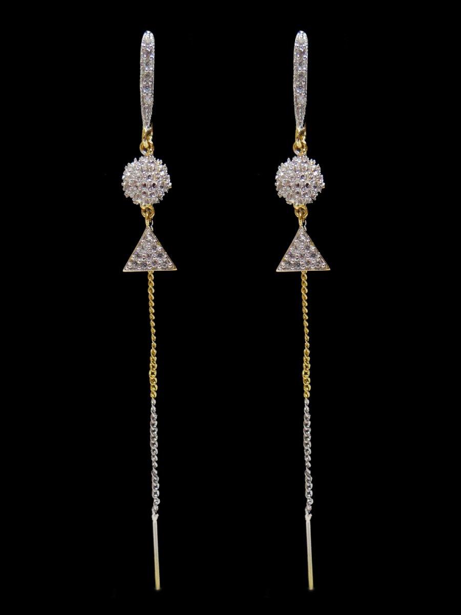 34ce8f8f5 American Diamond Sui Dhaga Earring   C20-ame6   Cilory.com