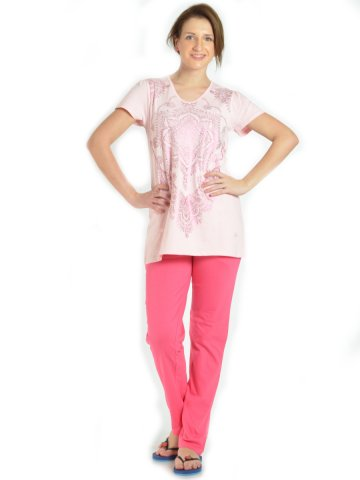 Dream Berry Light Pink PJ Set at cilory