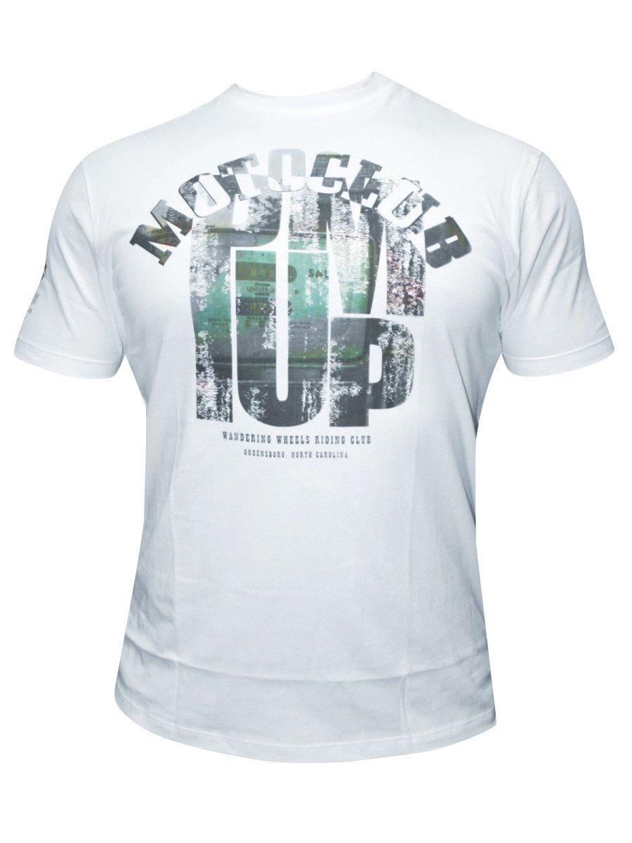Buy t shirts online wrangler men white round neck t for Buy t shirts online
