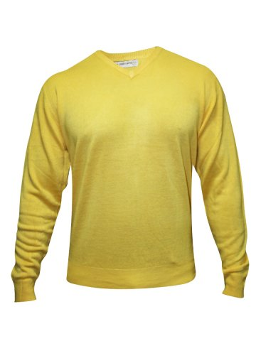 Red Tape Yellow V Neck Sweater at cilory