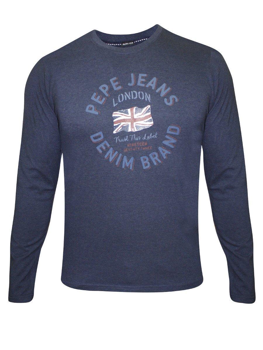 c498e75742 Full Sleeve Tees.  Pepe Jeans Indigo Blue Full Sleeve T Shirt.  https   static7.cilory.com 153426-thickbox default pepe- View full size