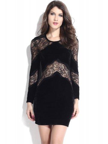fcb6ffc220d7d >Black Velvet Lace Long Sleeves Vintage Dress.  https://d38jde2cfwaolo.cloudfront.net/167871-thickbox_default/black-