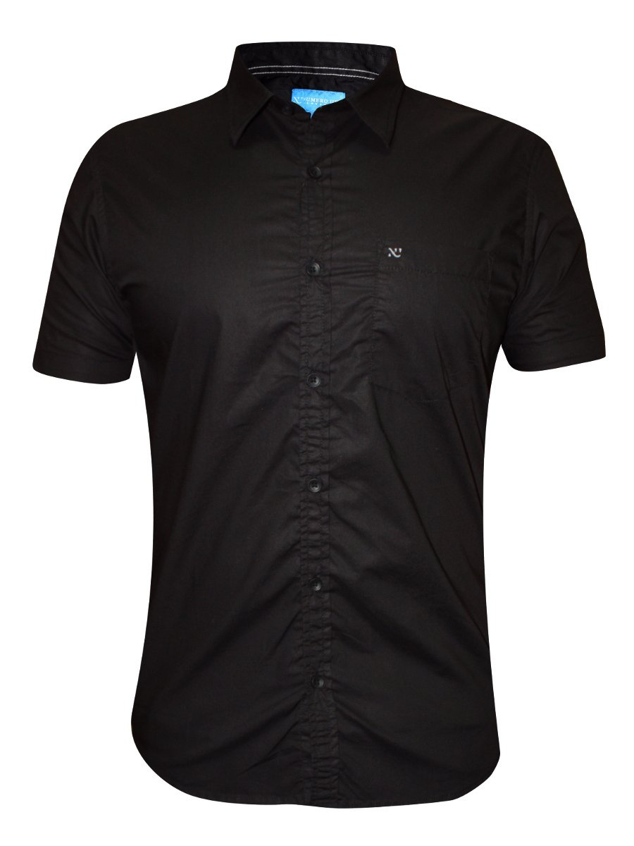 numero uno black half sleeve shirt nmshhe986 black