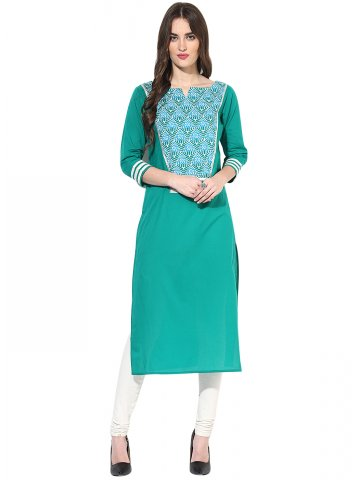 https://static5.cilory.com/182301-thickbox_default/jk-s-cotton-solid-dye-3-4th-sleeves-sea-green-kurti.jpg