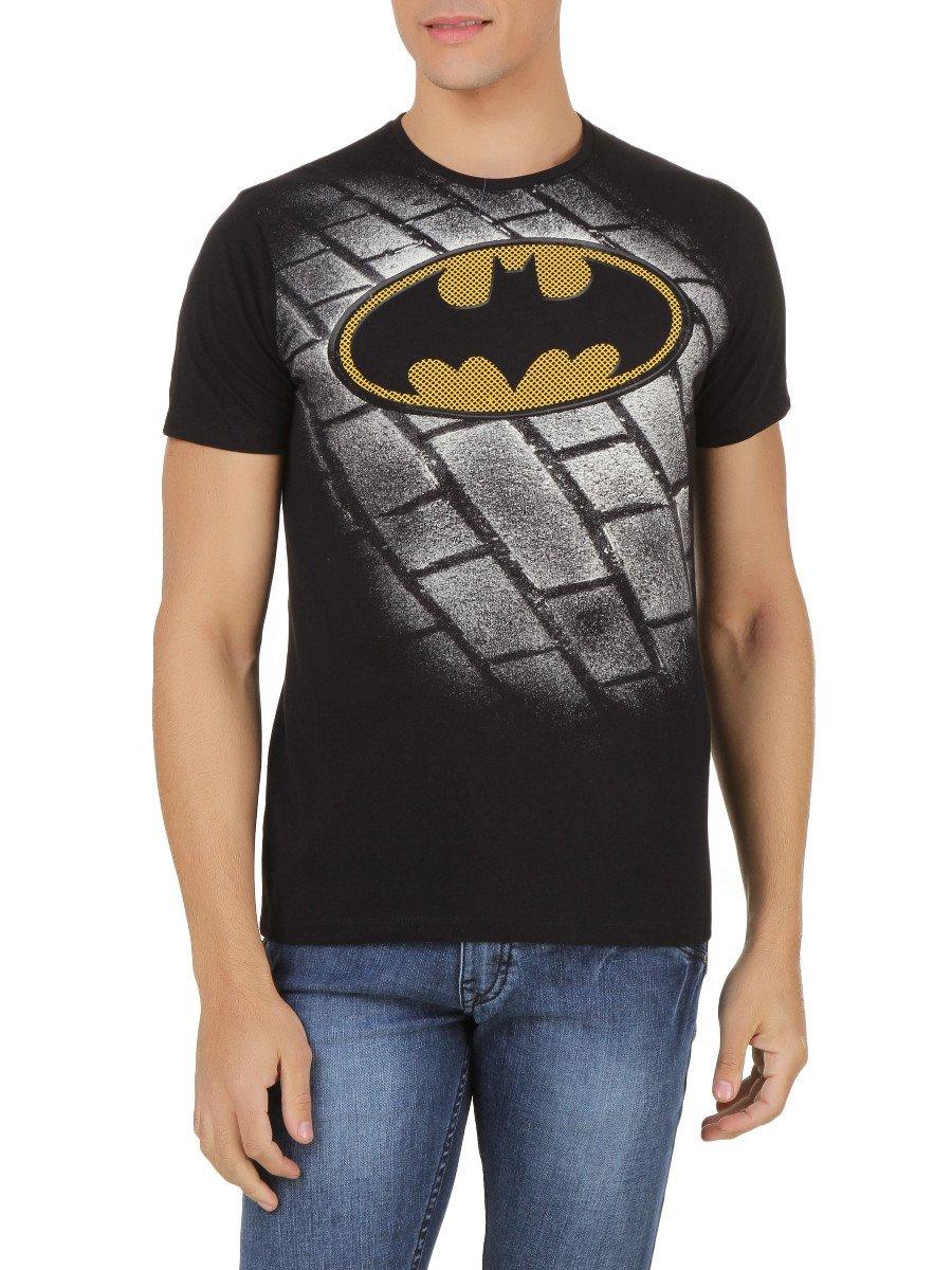 Buy t shirts online batman black half sleeves tshirt for Full sleeve t shirts online