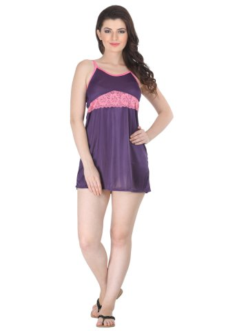 Belle Nuits Purple Short Nighty at cilory