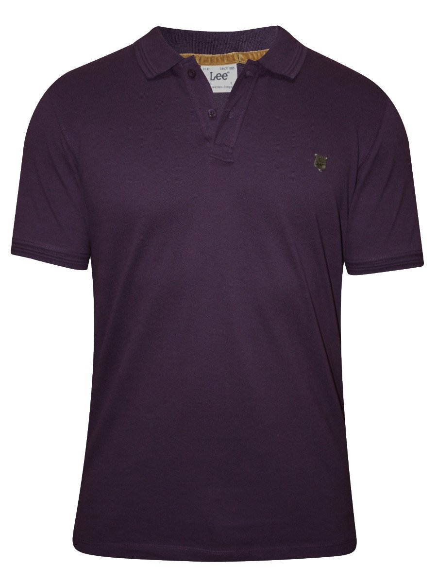 Buy t shirts online lee purple polo t shirt for Polo or t shirt