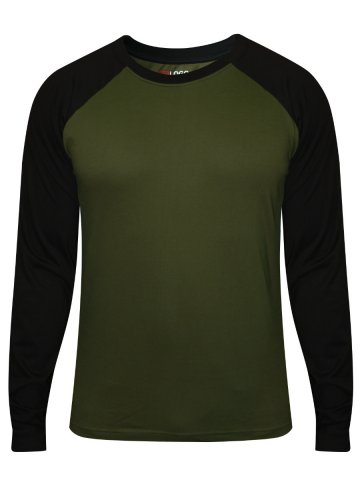 Military Sleeves ShirtFst Greenamp; T Raglan Black Nologo mw8v0Nn