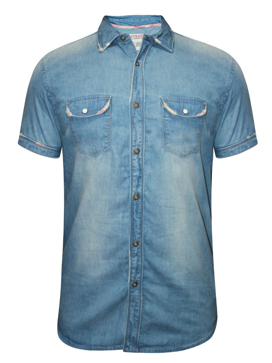 Spykar Grey Half Sleeves Denim Shirt | Ranger S16-277-blue | Cilory.com