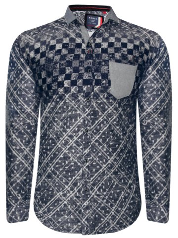 Rebel Blue Party Wear Shirt at cilory