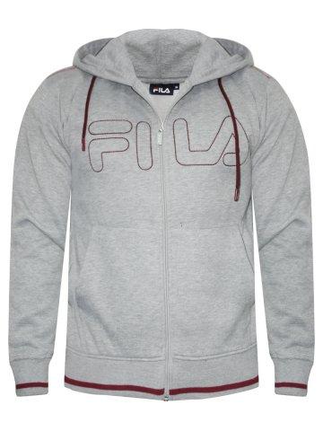 Fila Grey Mellange Zipper Hoodie at cilory