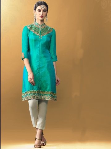 https://d38jde2cfwaolo.cloudfront.net/238165-thickbox_default/glint-green-designer-two-tone-kurti.jpg