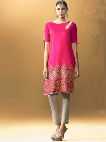 https://static5.cilory.com/238168-thickbox_default/glint-pink-designer-two-tone-kurti.jpg