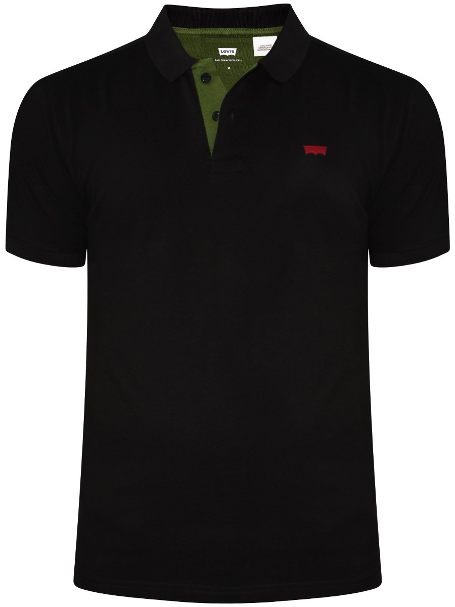 Buy T-shirts Online | Levis Black Polo T-shirt | 17474 ...