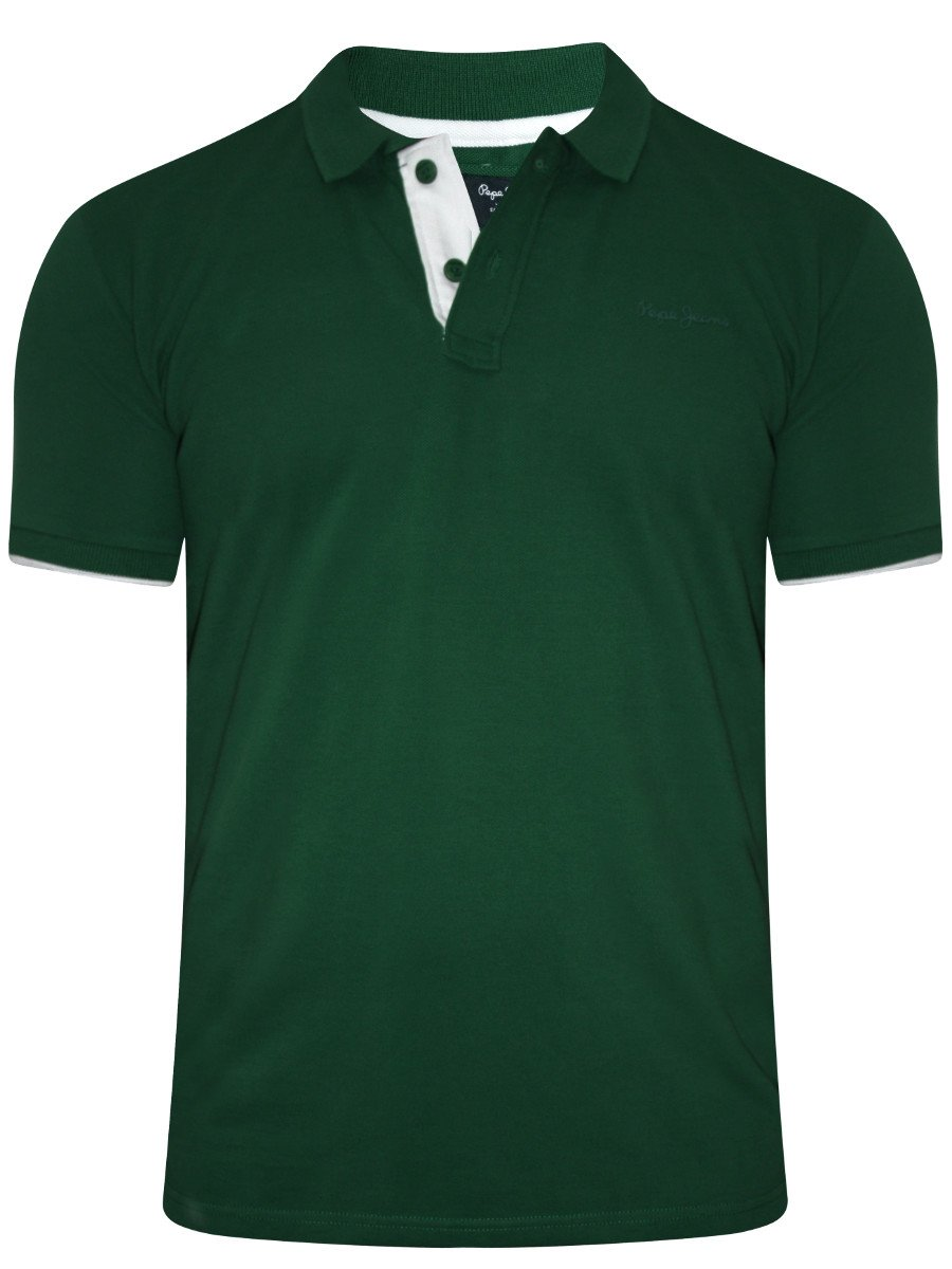 Buy T Shirts Online Pepe Jeans Dark Green Polo T Shirt