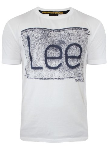 Lee White Round Neck T-Shirt at cilory