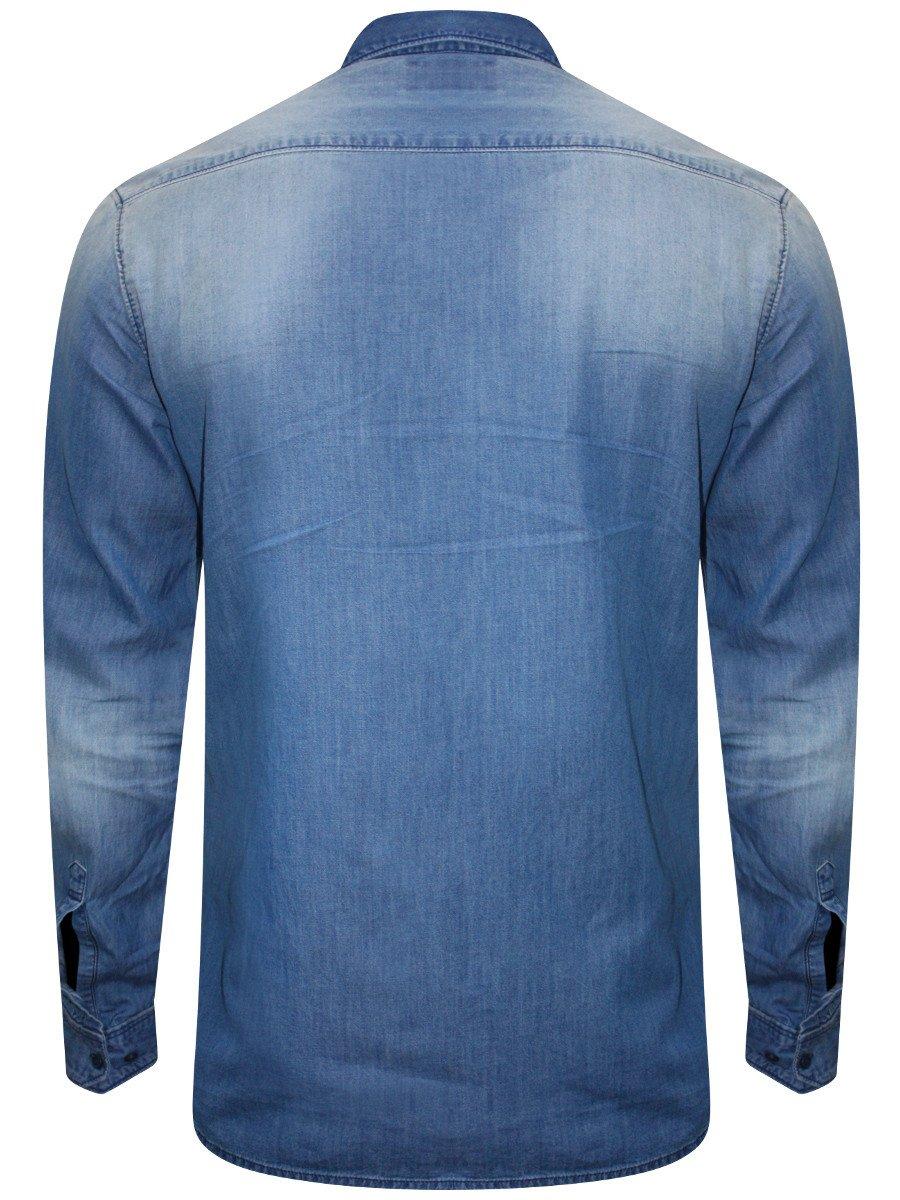 30cde4c4ab Numero Uno Pure Cotton Light Blue Denim Shirt