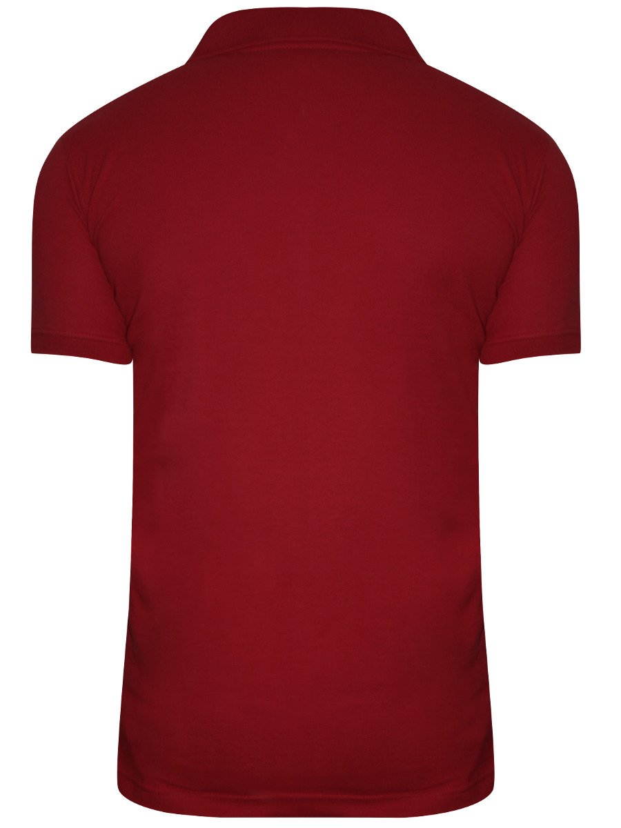 Buy T Shirts Online Nologo Dark Red Polo T Shirt Nologo Pt 172