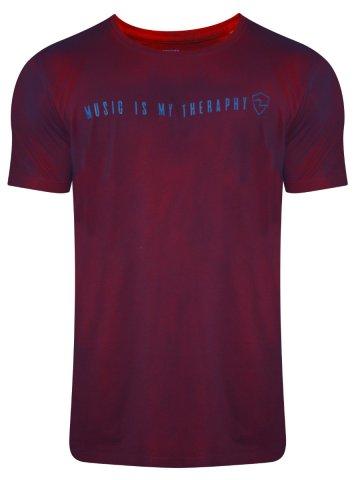 Spykar Wine Dual Tone Round Neck T-Shirt at cilory