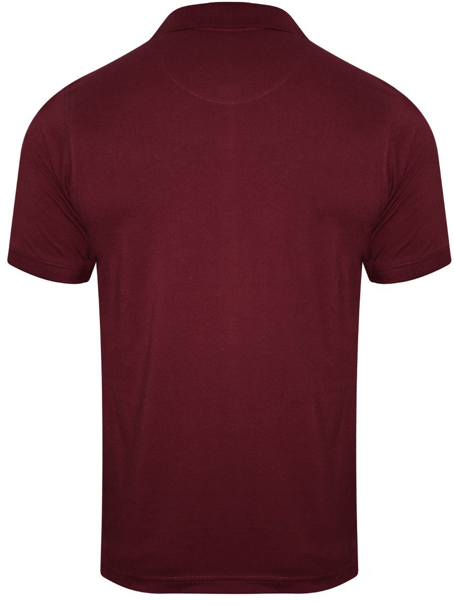 Monte carlo c d maroon polo t shirt with pocket for Maroon t shirt for men