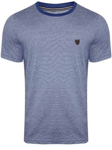 Monte Carlo C&D Navy Melange Round Neck T-Shirt at cilory