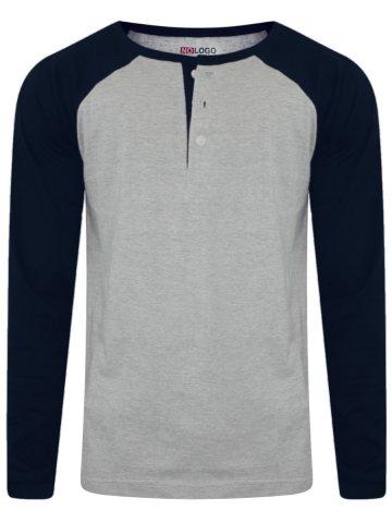 https://static2.cilory.com/263271-thickbox_default/nologo-grey-melange-navy-raglan-sleeves-henley-tee.jpg