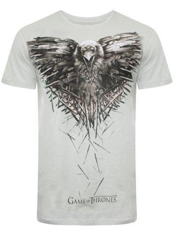 d5c96ef2 Game of Thrones Light Grey Round Neck T- Shirt