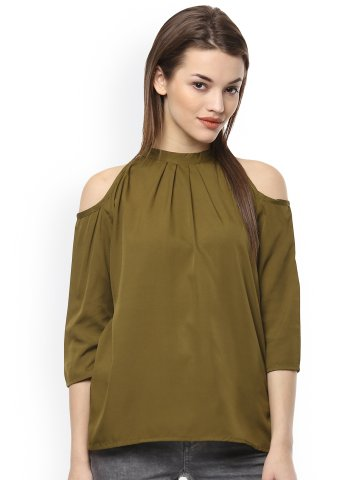 a269529f4d50ba  Netanya Olive Cold Shoulder Top.  https   static.cilory.com 281026-thickbox default netanya-
