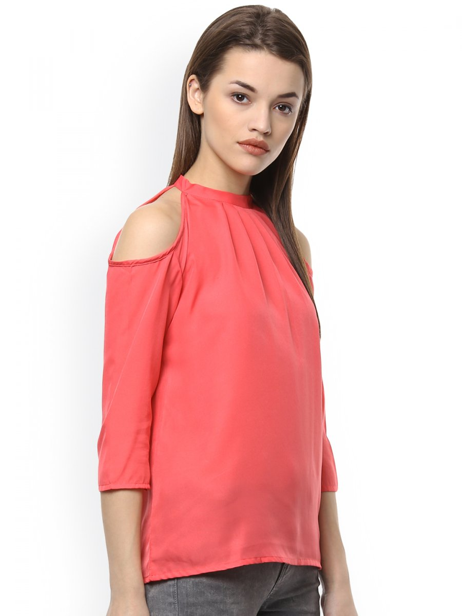 13bc34f90ef85d Netanya Pink Cold Shoulder Top