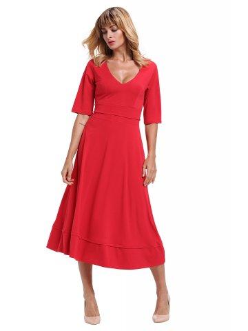 https://d38jde2cfwaolo.cloudfront.net/284383-thickbox_default/red-half-sleeve-v-neck-high-waist-flared-dress.jpg