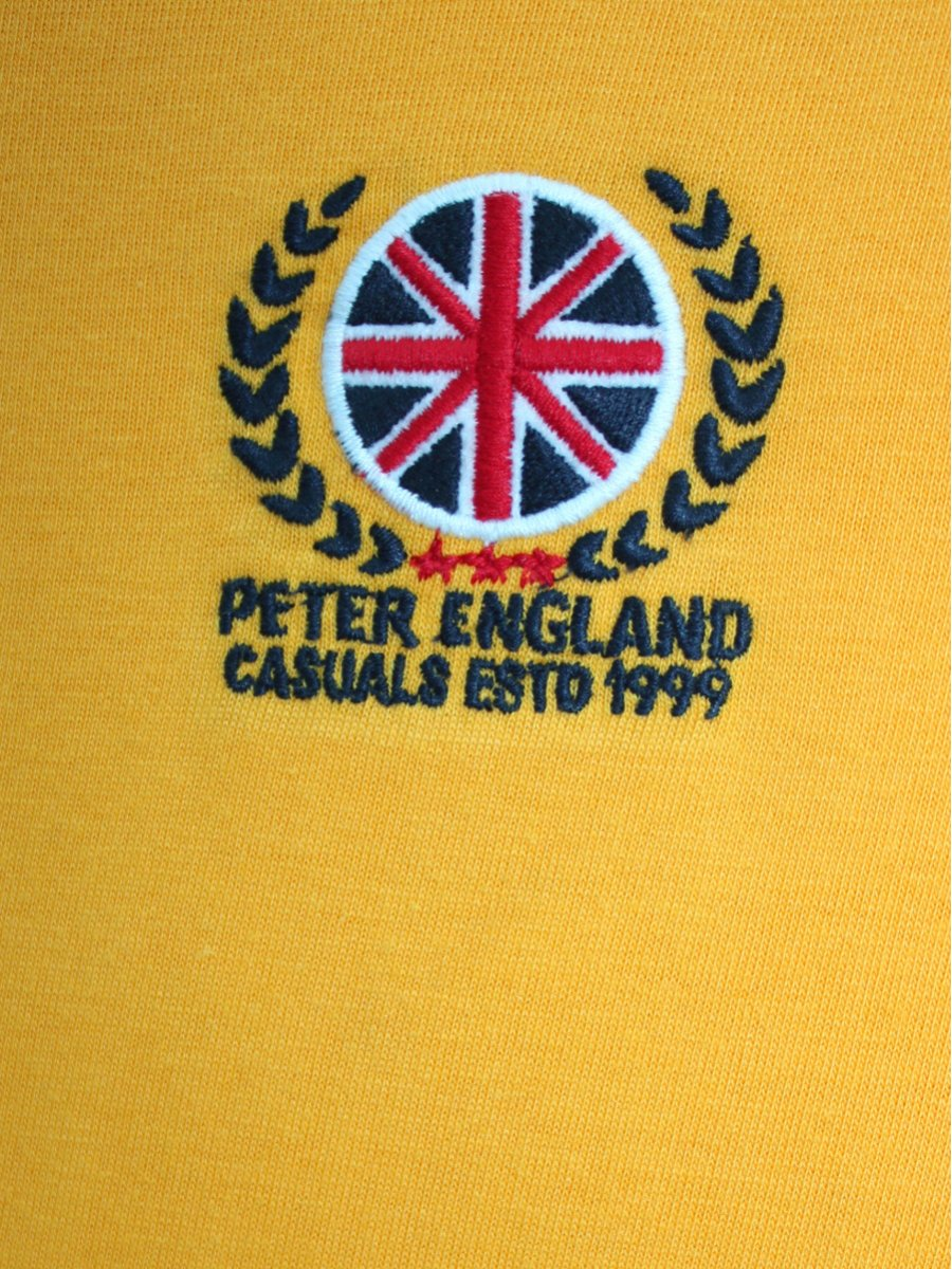Buy t shirts online peter england sunshine yellow polo t shirt view full size biocorpaavc