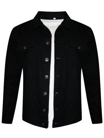 https://static2.cilory.com/300383-thickbox_default/nologo-black-trucker-denim-jacket.jpg