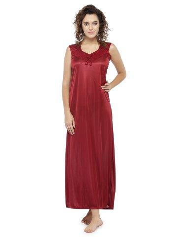 Buy Nighty Online | Solid Long Night Gown For Women | Nsr05-dark ...