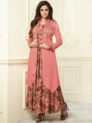 https://static5.cilory.com/340908-thickbox_default/hot-pink-rayon-cotton-kurti-with-cold-shoulder-robe.jpg