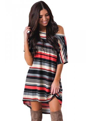 532dd618a2a1 >Red Black Multi-striped Casual T-Shirt Dress.  https://static3.cilory.com/342150-thickbox_default/red-
