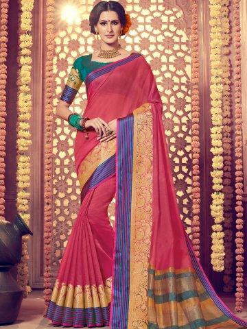 522aec31d4eada  Vivanta Dark Pink Saree with Golden Print Work.  https   static3.cilory.com 362800-thickbox default vivanta-