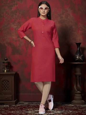 https://static.cilory.com/399016-thickbox_default/dark-pink-cotton-side-slit-kurti.jpg