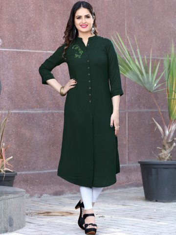 https://static6.cilory.com/402319-thickbox_default/bottle-green-rayon-front-slit-kurta.jpg