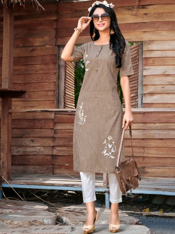 https://static4.cilory.com/403147-thickbox_default/100-miles-dark-brown-cotton-embroidered-kurti.jpg