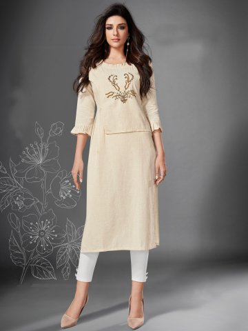 https://static4.cilory.com/407570-thickbox_default/off-white-side-slit-cotton-kurta.jpg