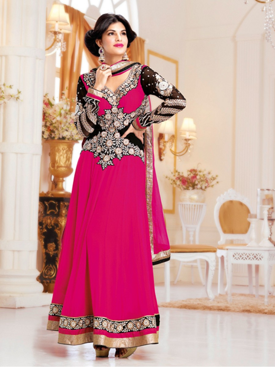 003ce1af1 Celebrity Look Party Wear Semi Stiched Anarkali Suits